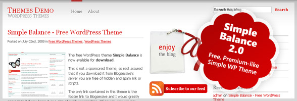 Free, Premium-like, Simple WordPress Theme