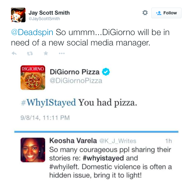 Digiorno Pizza on Twitter screenshot