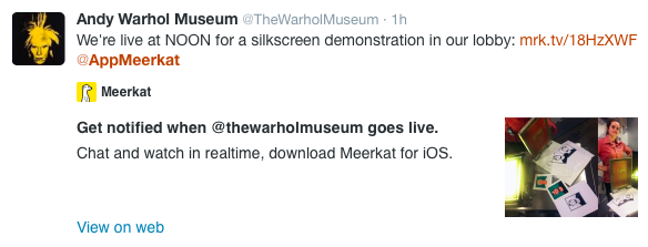 Meerkat app screenshot