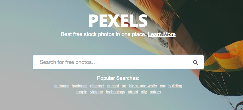 Pexels screenshot