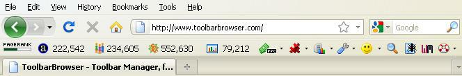 Firefox SEO Toolbar screenshot