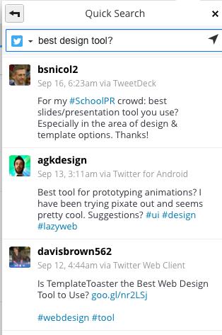 Hootsuite search screenshot