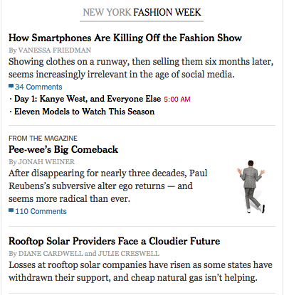 New York Time Fashion Week screenshot