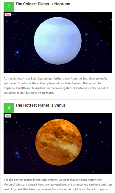 Featured snippet: what is the coldest planet