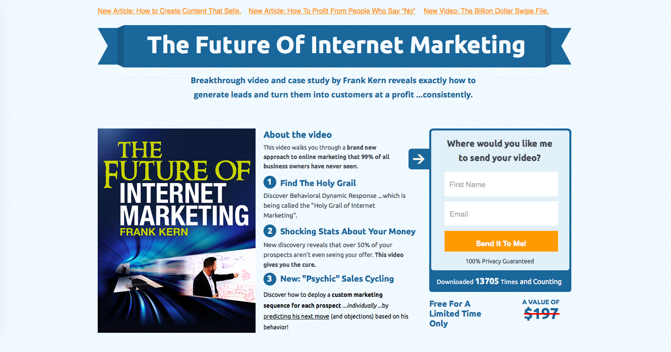 10 examples of amazing landing pages