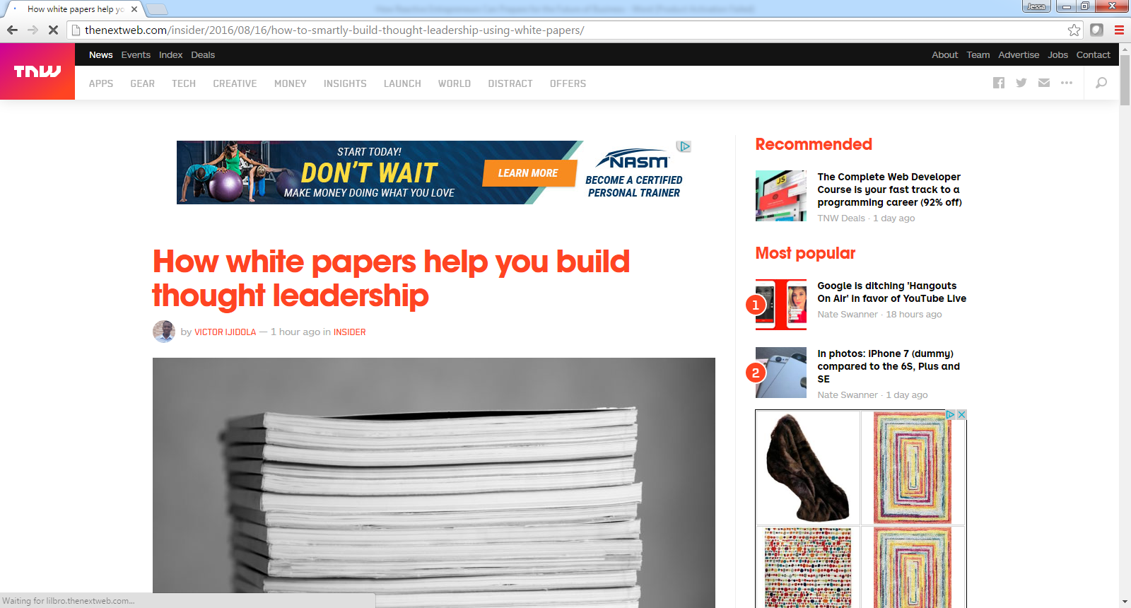 how white papers help you build thought leadership meet john how white papers help you build thought leadership john rampton