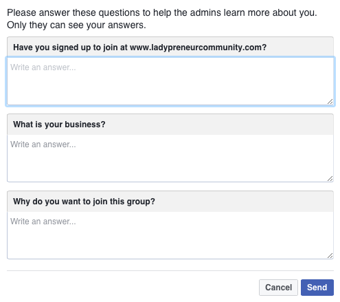 Facebook Tests Question Feature For Group Member Requests